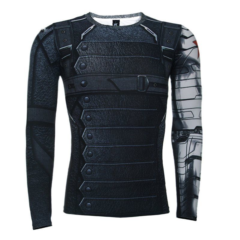 Cool-Marvel-The-Avengers-Superhero-Compression-T-shirts-Sport-Bicycle-Gym-Jersey