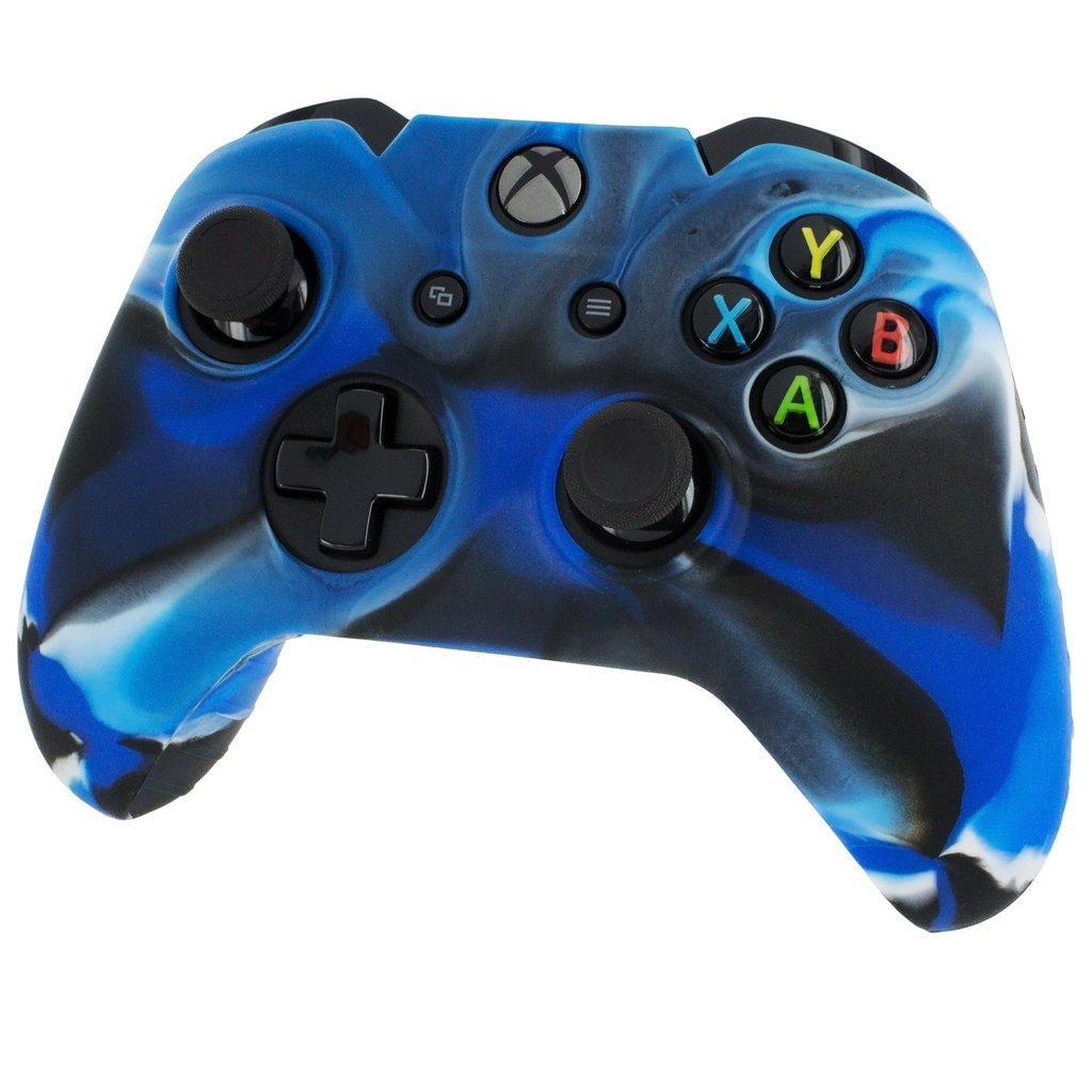 Xbox One Controller © Haut Case Silikon Cover Gel Rubber Schutz- Camo
