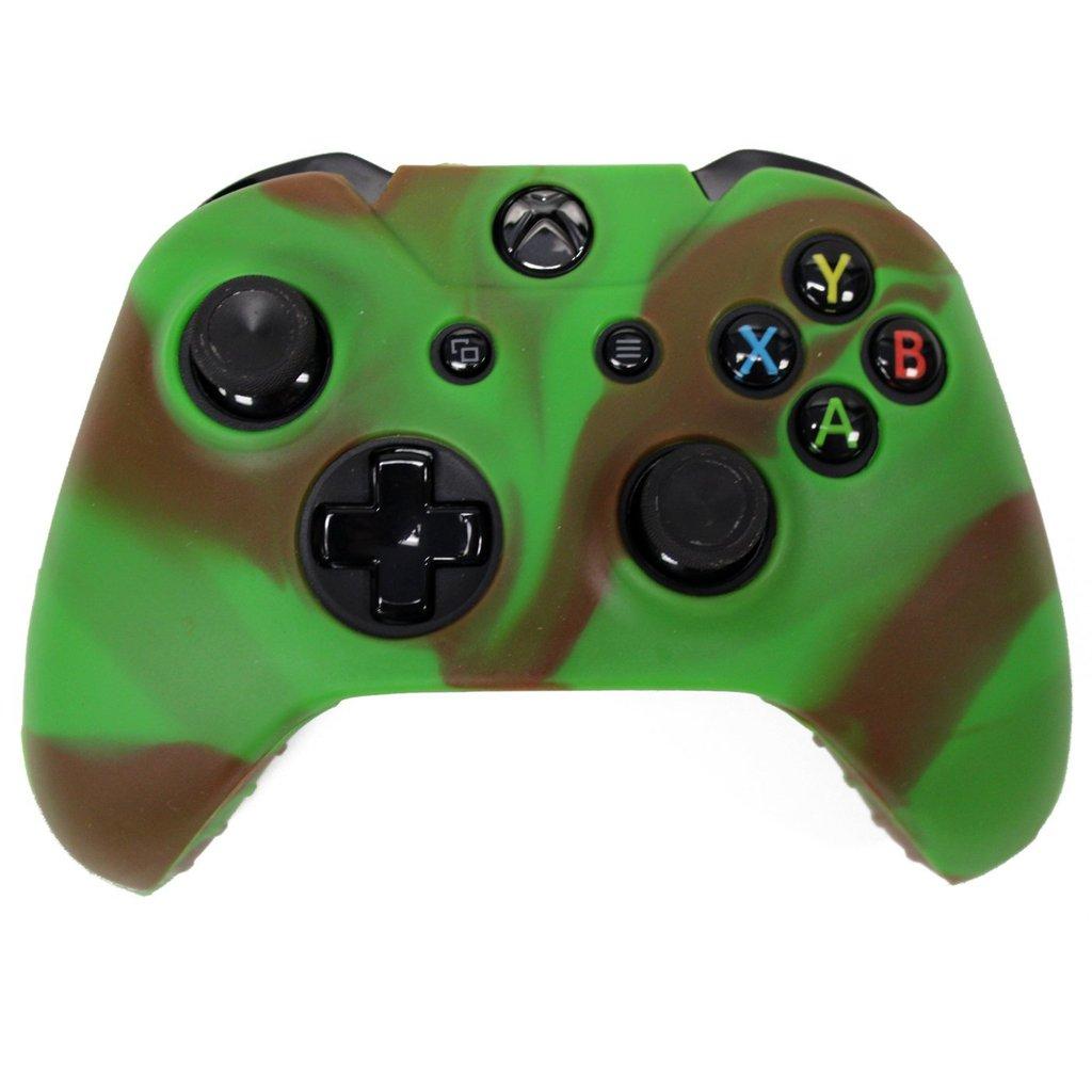 Case Silikon Cover Gel Rubber Schutz- Camo Xbox One Controller © Haut