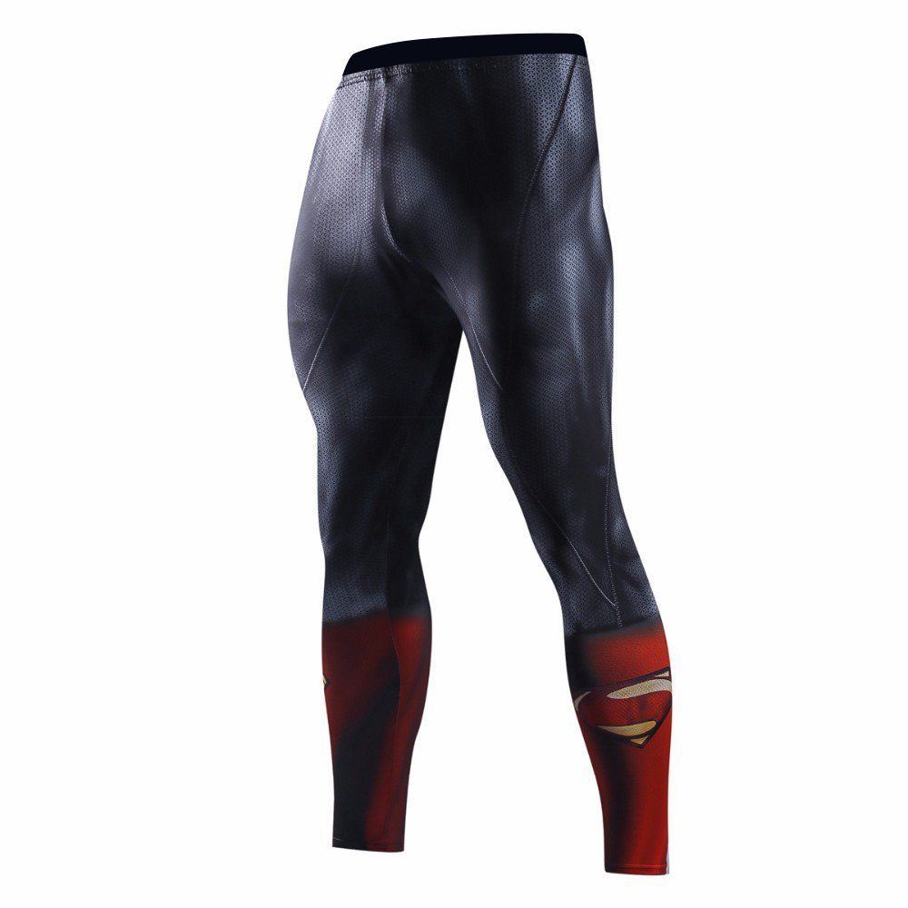 Men-039-s-Top-Compression-Superhero-T-Shirts-Pants-Gym-Sportswear-Fit-Bicycle-Jersey