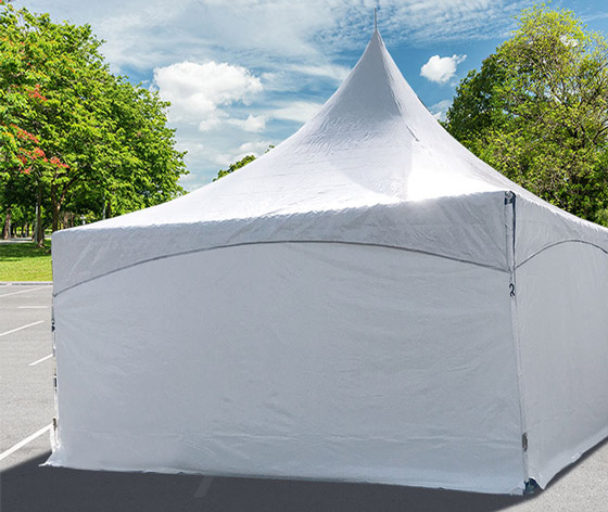 Commercial 9u0027 High Solid White High Peak Tent One Sidewall & High Peak Tent 9u0027h Sidewall Solid Hanging Panel Commercial Vinyl ...
