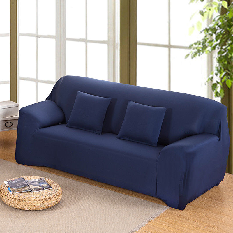 Covering A Sofa With Fabric: Fashion L Shape Stretch Elastic Fabric Sofa Cover