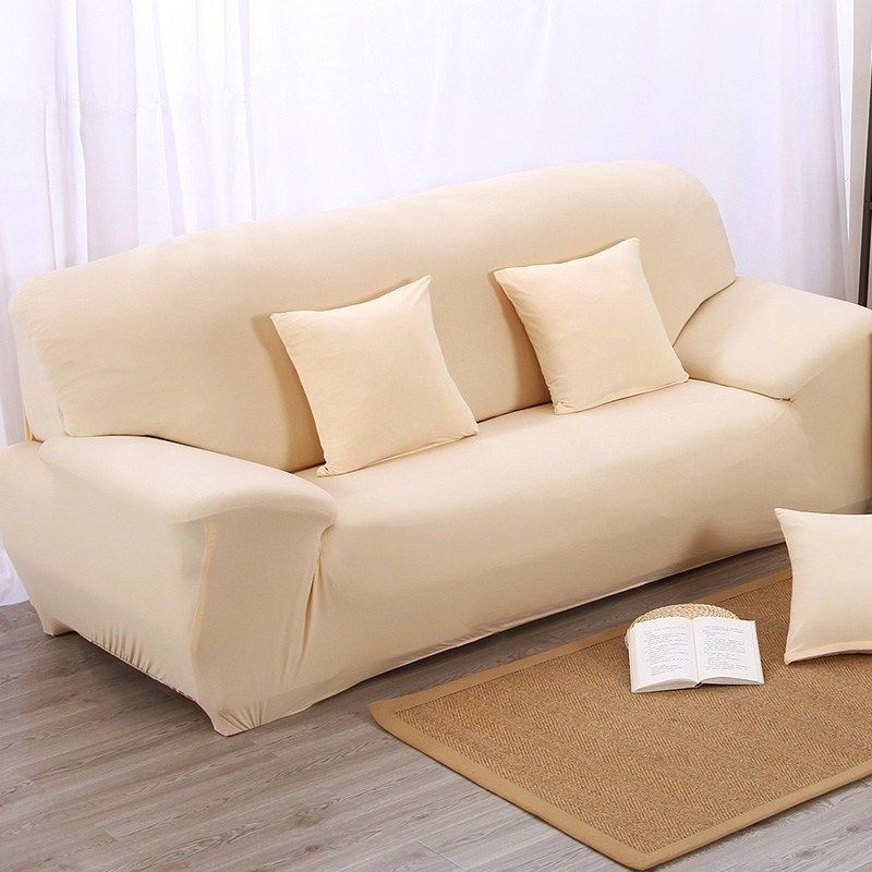 Covering A Sofa With Fabric: Fashion Stretch Elastic Fabric Sofa Cover L Shape