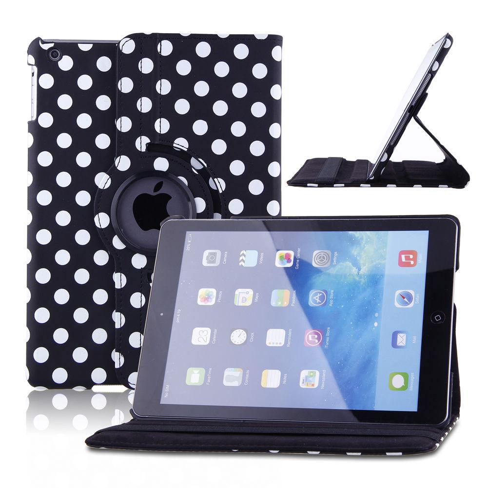 360 rotating flip stand pu leather smart case cover for. Black Bedroom Furniture Sets. Home Design Ideas