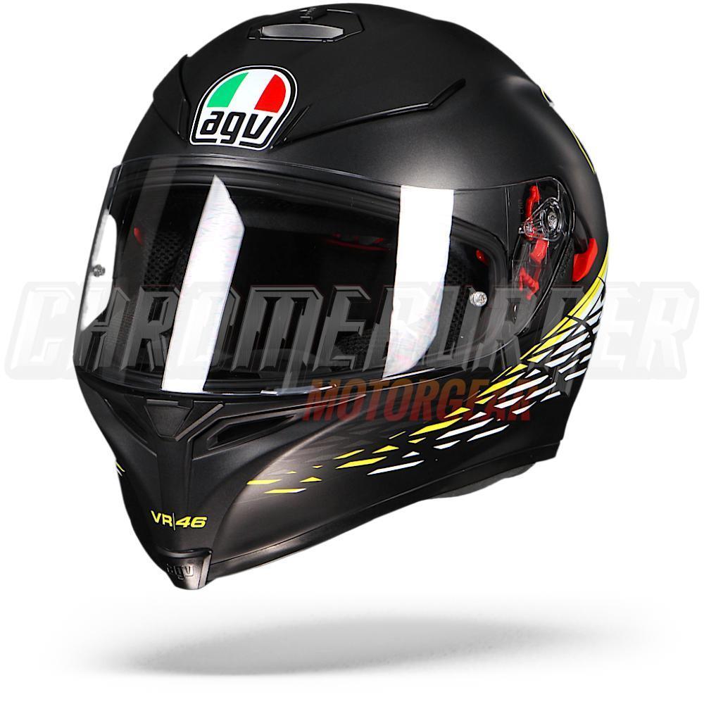 AGV-K-5-S-Thorn-Matt-Black-White-Yellow-VR46-Rossi-helmet-K5-S-NEW