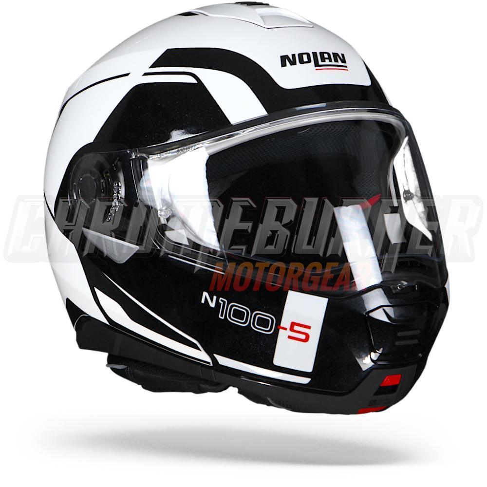 nolan n100 5 n100 5 n100 5 n105 consistency metal white n com 019 flip up helmet ebay. Black Bedroom Furniture Sets. Home Design Ideas