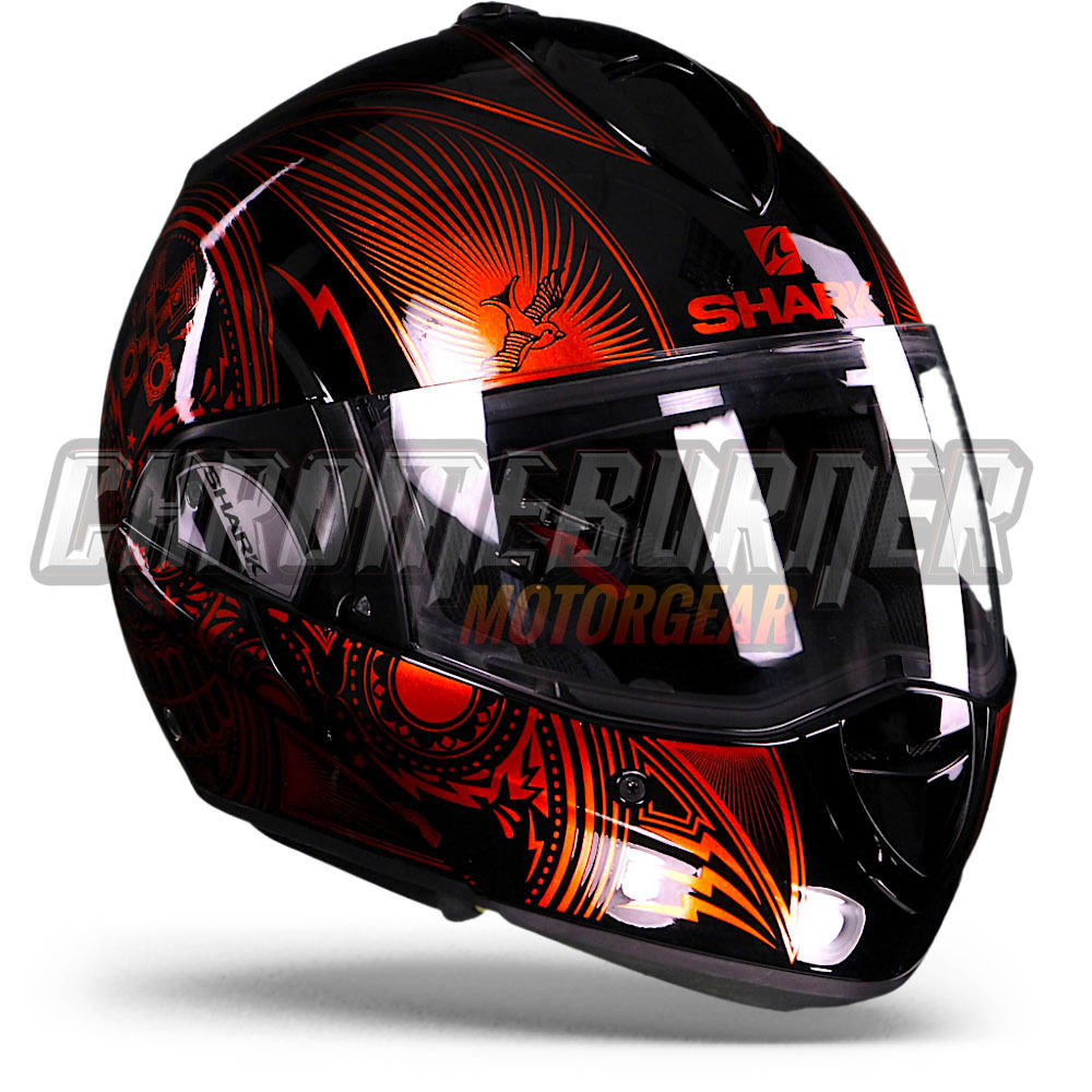 shark evoline series 3 mezcal orange chrome kuo flip up helmet new ebay. Black Bedroom Furniture Sets. Home Design Ideas