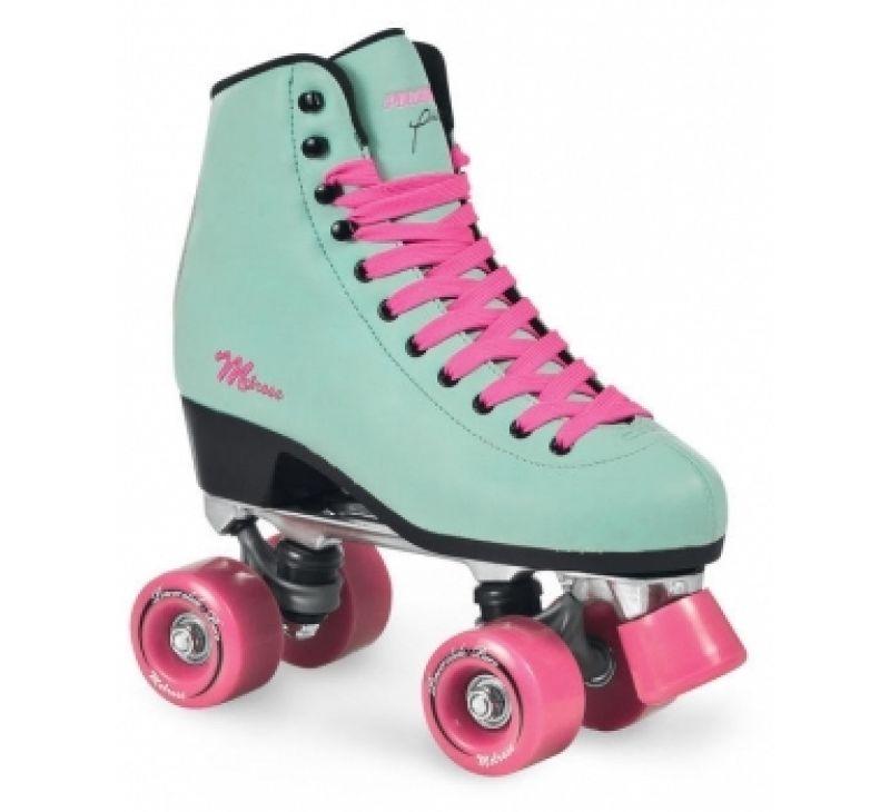 powerslide quad roller skates melrose turquoise pink sfr soy luna