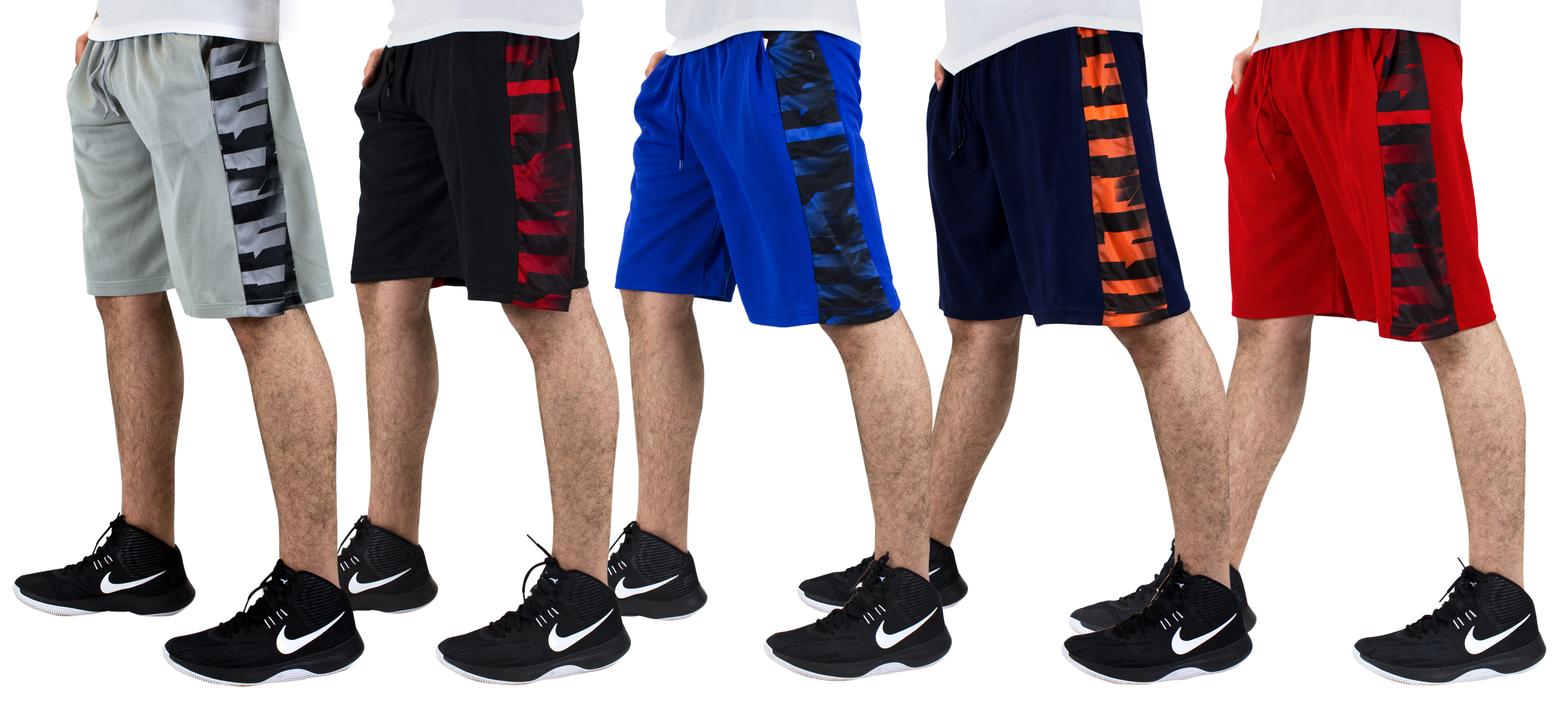 5-Pk Mystery American Legend Mens Performance Shorts