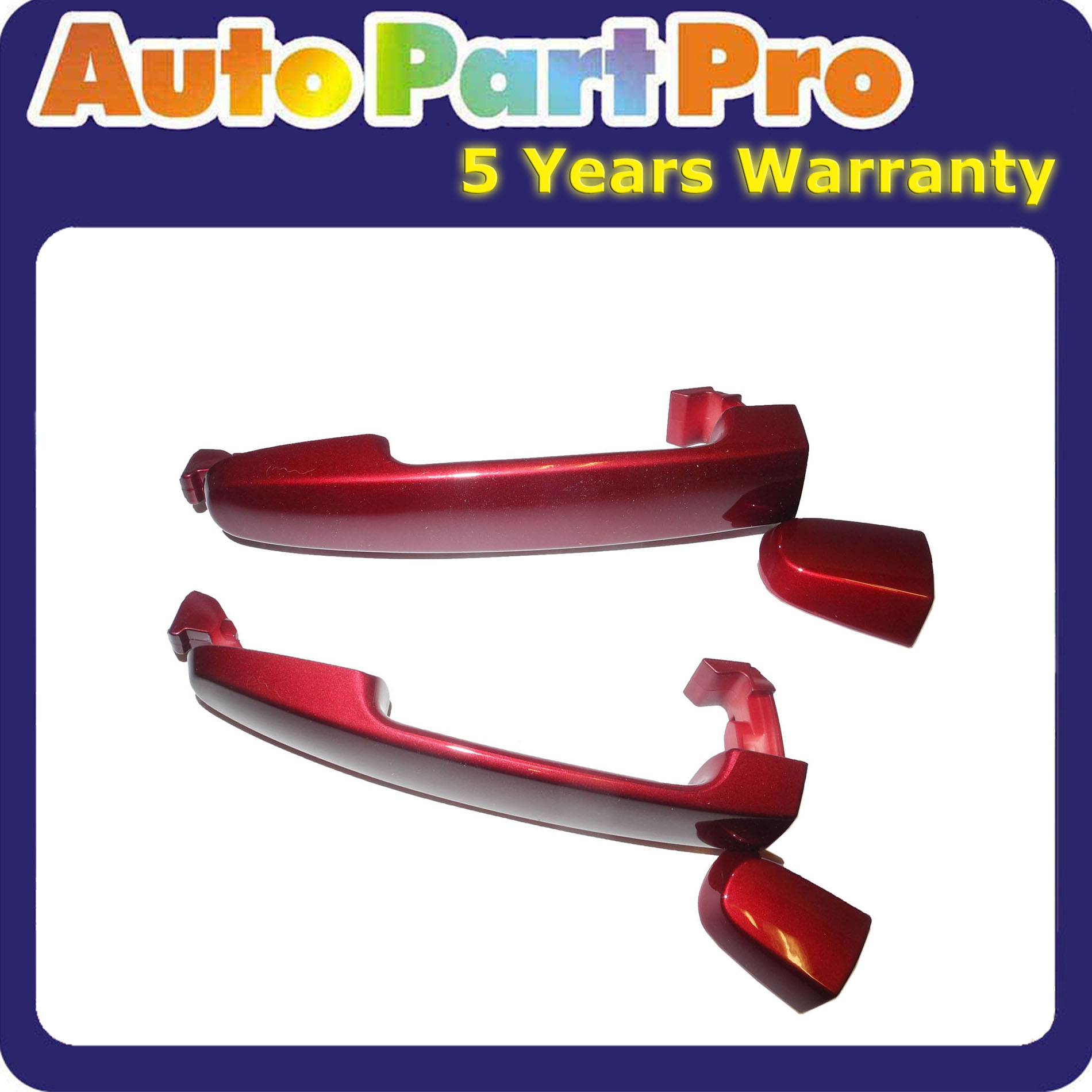 Outside Door Handle For 02-06 TOYOTA Camry Red Mica 3M8 W//O Keyhole Rear