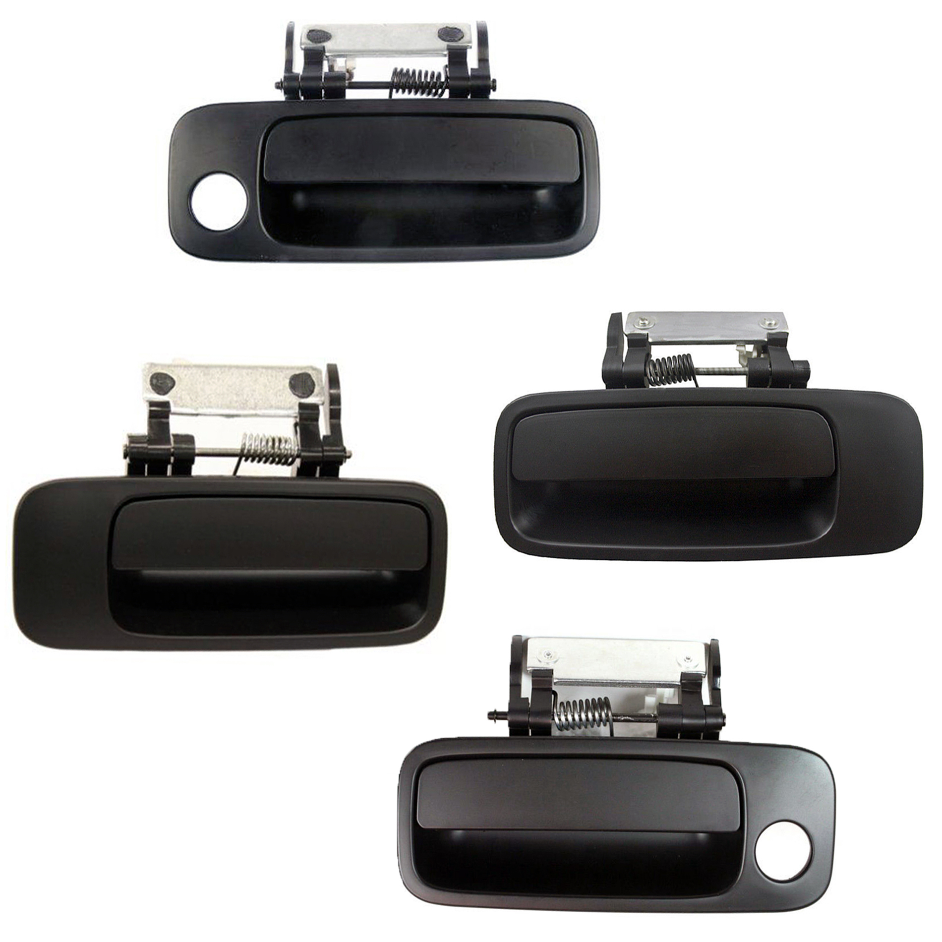 2000-2004 Toyota Avalon Non Painted Black For Rear Outside Door Handle Set 2PCS