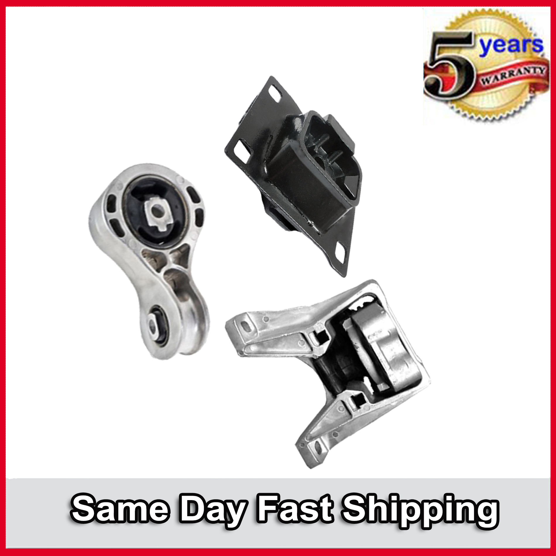 Engine Motor /& Trans Mount For 2008-2011 Ford Focus 2.0L Auto Set 5322 5495 2986