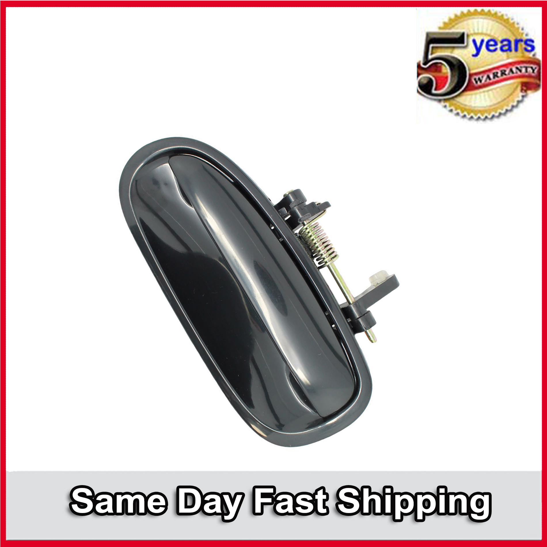 2x Door Handles Black Outer Outside Front Right Left  For 1996-2000 Honda Civic