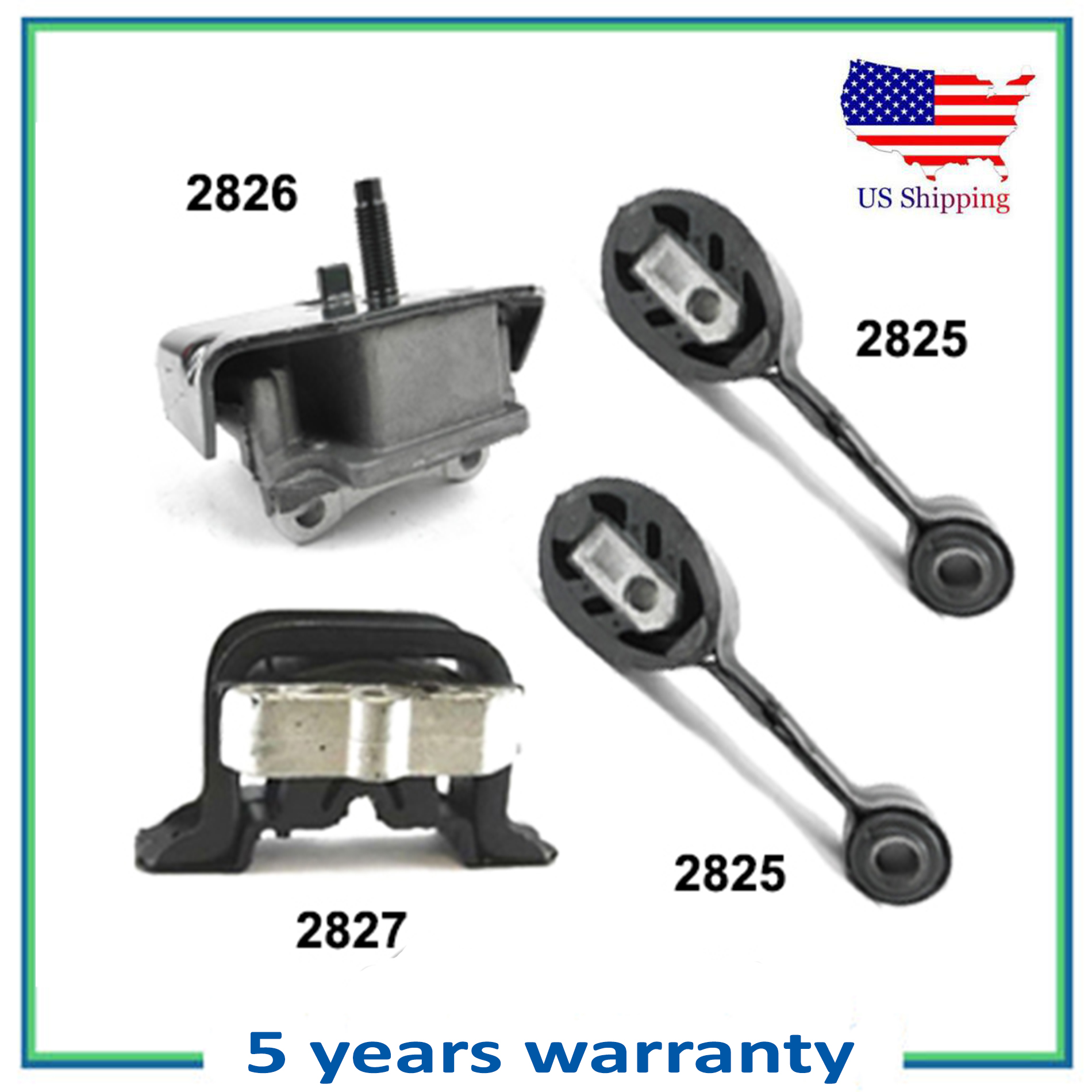 U.S Ignition System Engine Motor /& Trans Mount Replacement for 1992-2002 Saturn SC//SL//SW Series 1.9L A2825 A2825 A2826 A2827