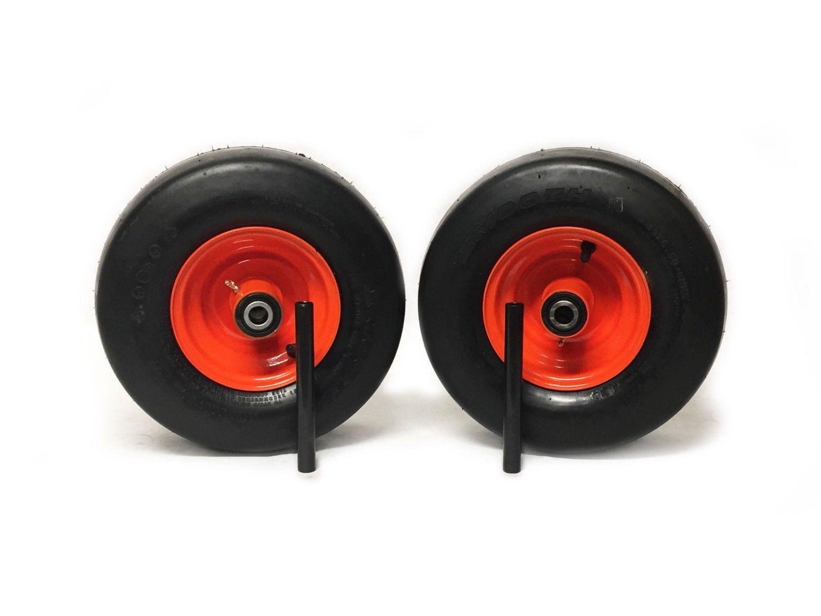 Z725 Z724X Kubota Flat Free Wheel Assemblies 13x6.50-6 Orange Fits Z723 Z724