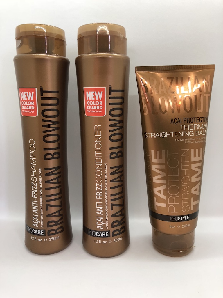 Brazilian Blowout Anti Frizz Shampoo Conditioner Duo with Ba