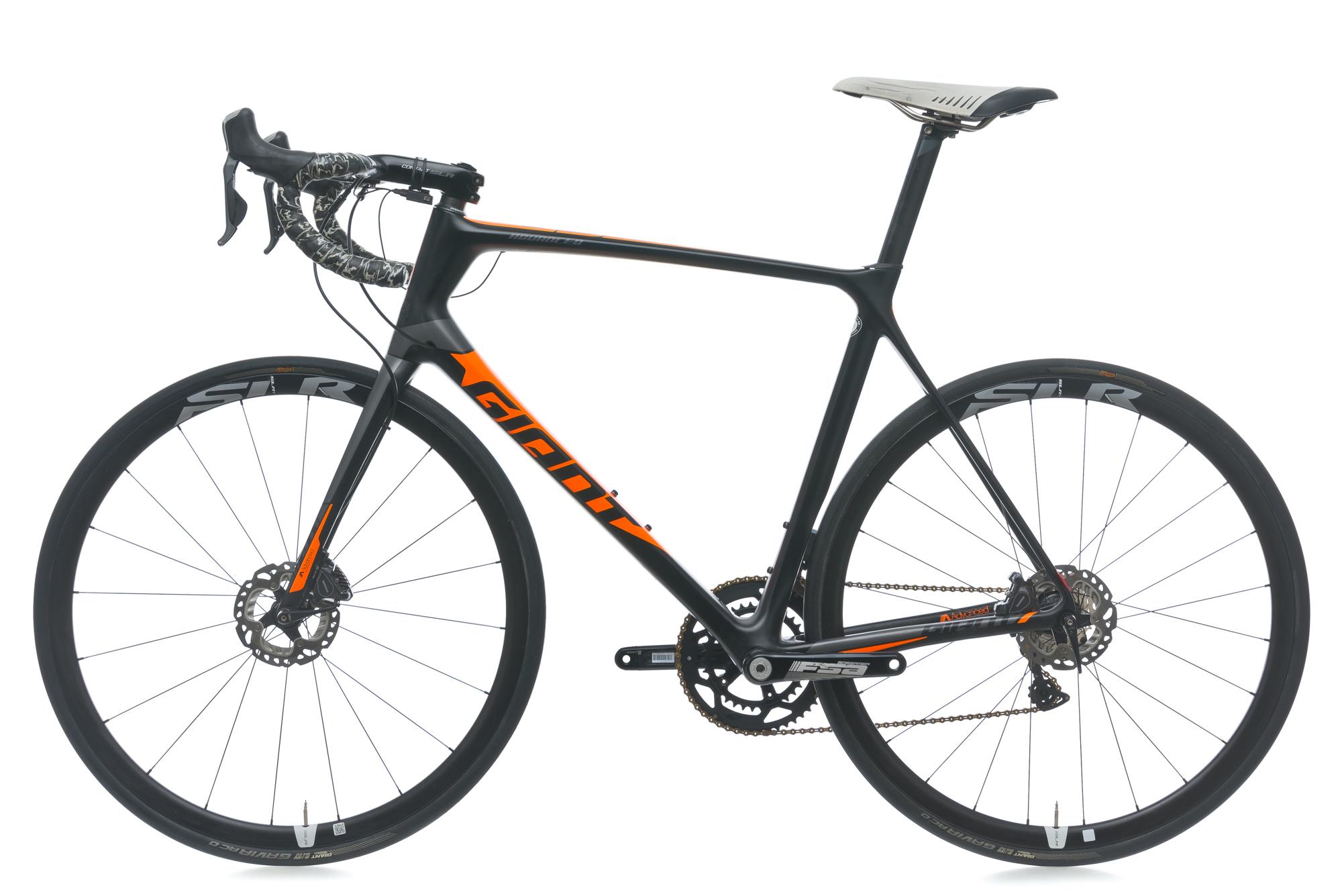 2017 Giant Tcr Advanced Pro Disc Road Bike 60cm X Large Carbon 700c Slr 3 M 2014 Wht Blue Shimano Di2