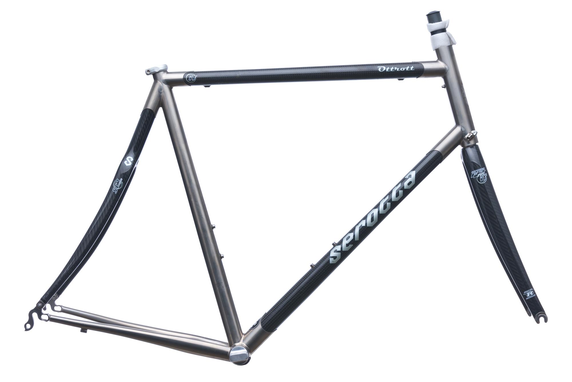 Serotta Custom Ottrott Road Bike Frame Set 58cm Large Carbon Titanium