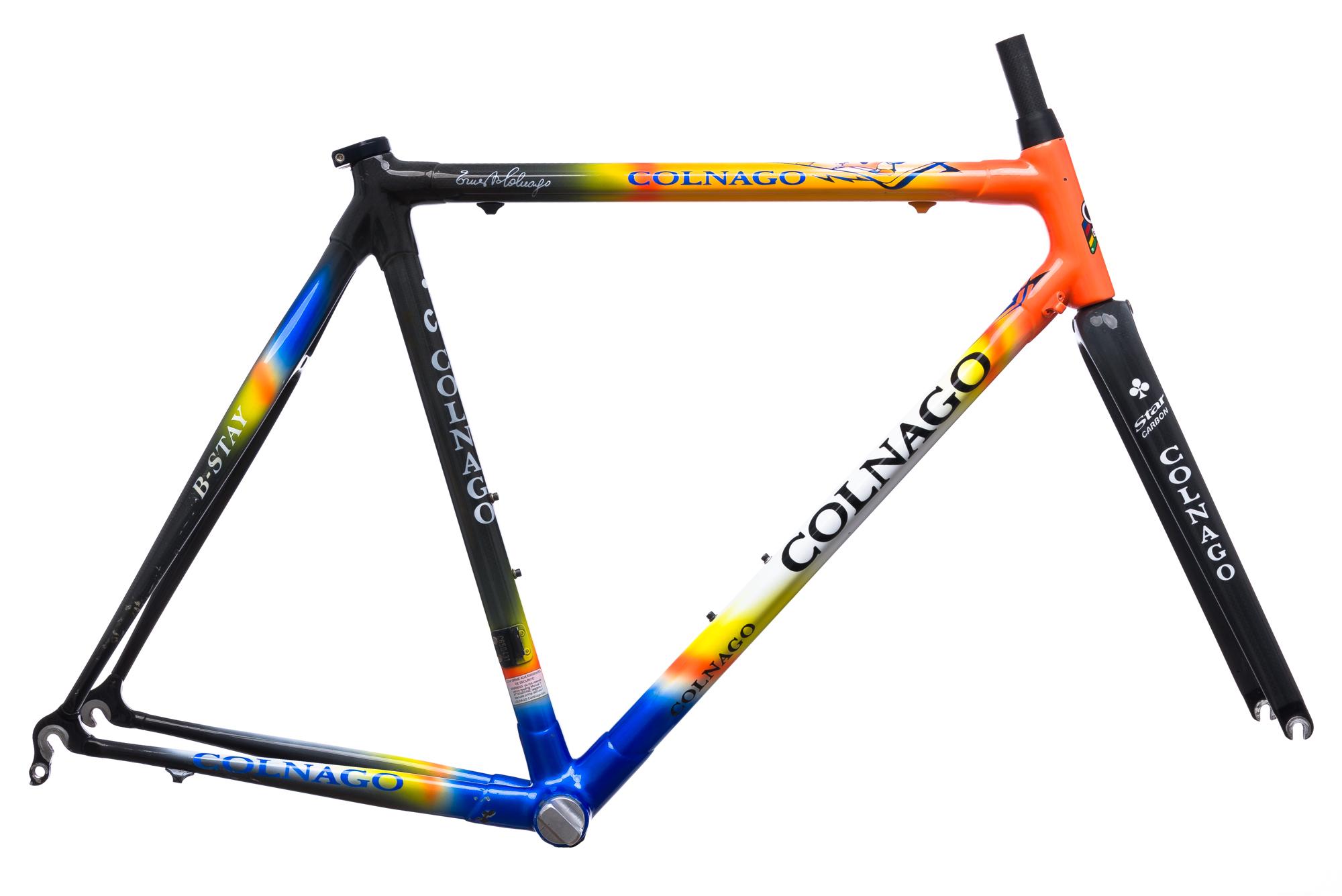 2002 Colnago C40 Road Bike Frame Set 55cm MEDIUM Carbon B-Stay Star ...