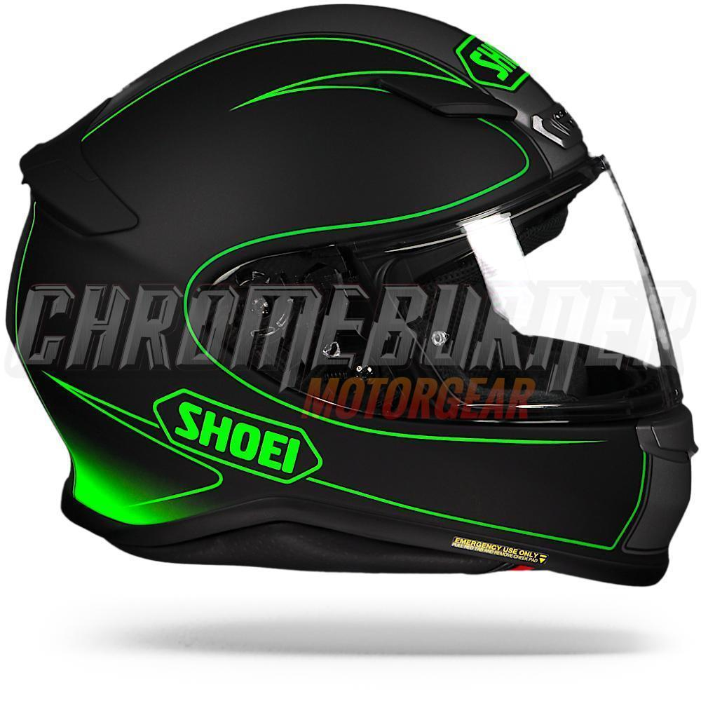 shoei nxr flagger tc 4 black silver green tc4 motorcycle. Black Bedroom Furniture Sets. Home Design Ideas