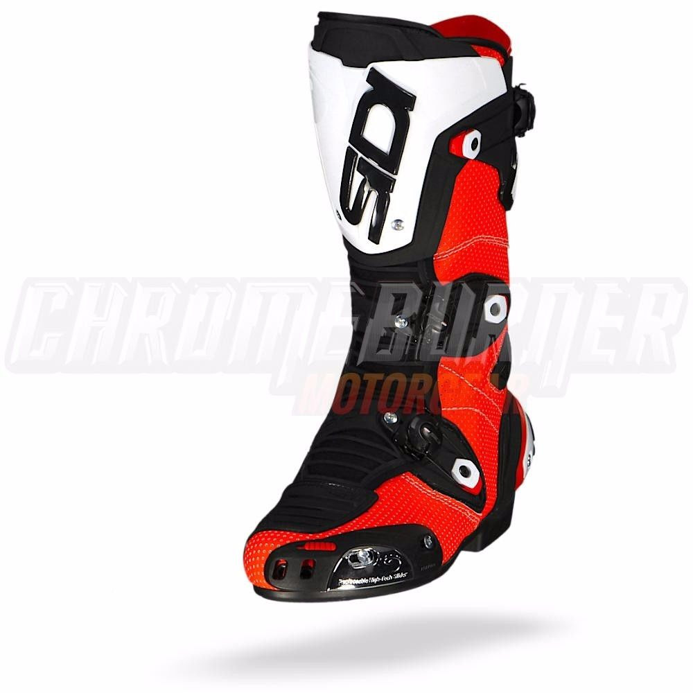 sidi mag 1 air red fluo black motorcycle boots new ebay. Black Bedroom Furniture Sets. Home Design Ideas
