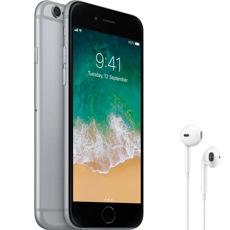 Apple iPhone 6 64GB Space Grey Factory Unlocked with Apple EarPods