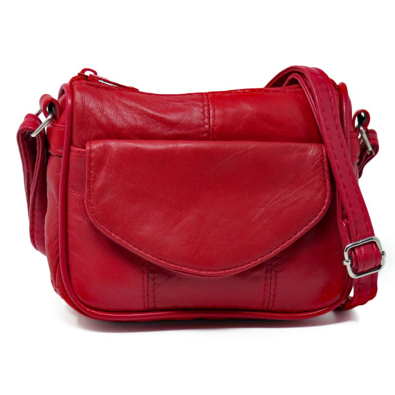Light Leather Cross Body Purse For Women (CA-2026RD) photo
