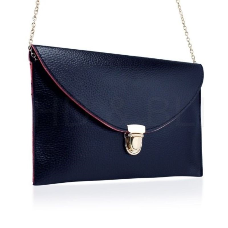 Synthetic Leather Envelope Clutch-Style Purse - 6 Colors (Evcbk) photo
