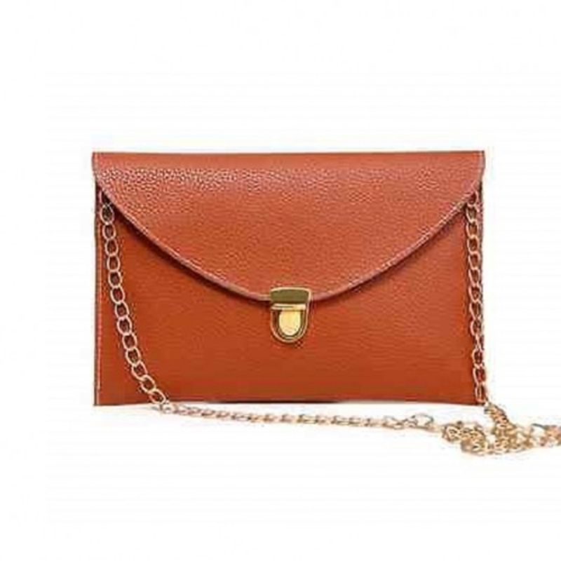 Synthetic Leather Envelope Clutch-Style Purse - 6 Colors (Evcbn) photo