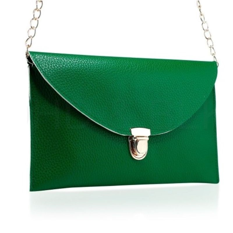 Synthetic Leather Envelope Clutch-Style Purse - 6 Colors (Evcgn) photo