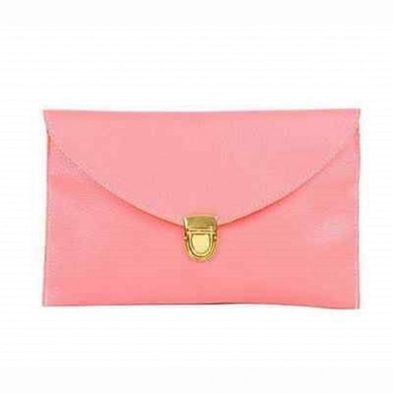 Synthetic Leather Envelope Clutch-Style Purse - 6 Colors (Evcpk) photo