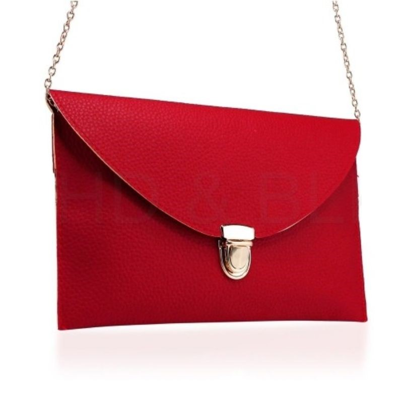 Synthetic Leather Envelope Clutch-Style Purse - 6 Colors (Evcrd) photo