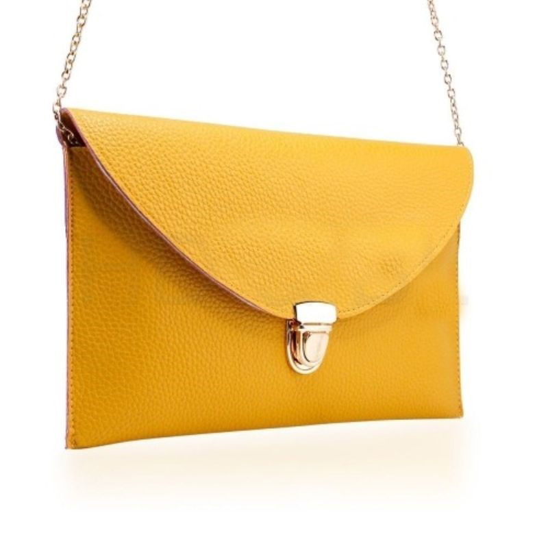 Synthetic Leather Envelope Clutch-Style Purse - 6 Colors (Evcyw) photo