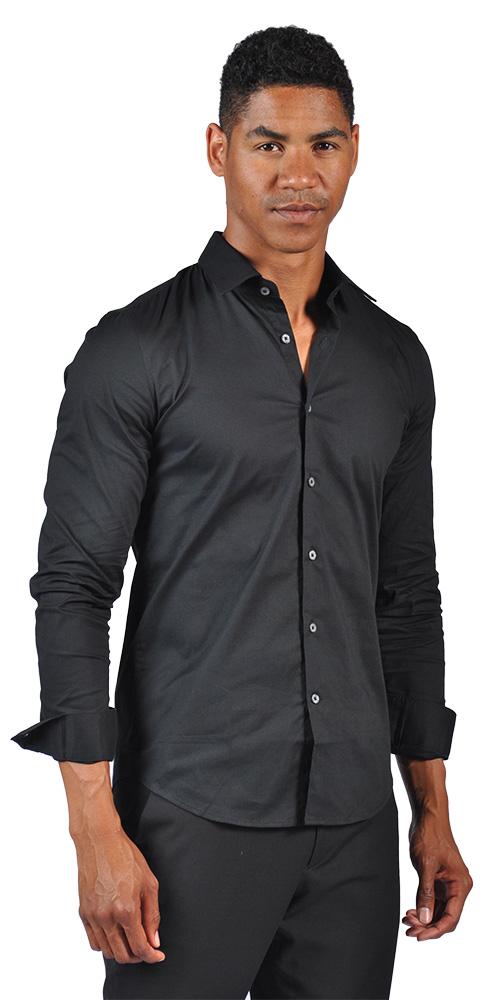 OTB Brand Mens Fitted Dress Button Down Shirt   eBay