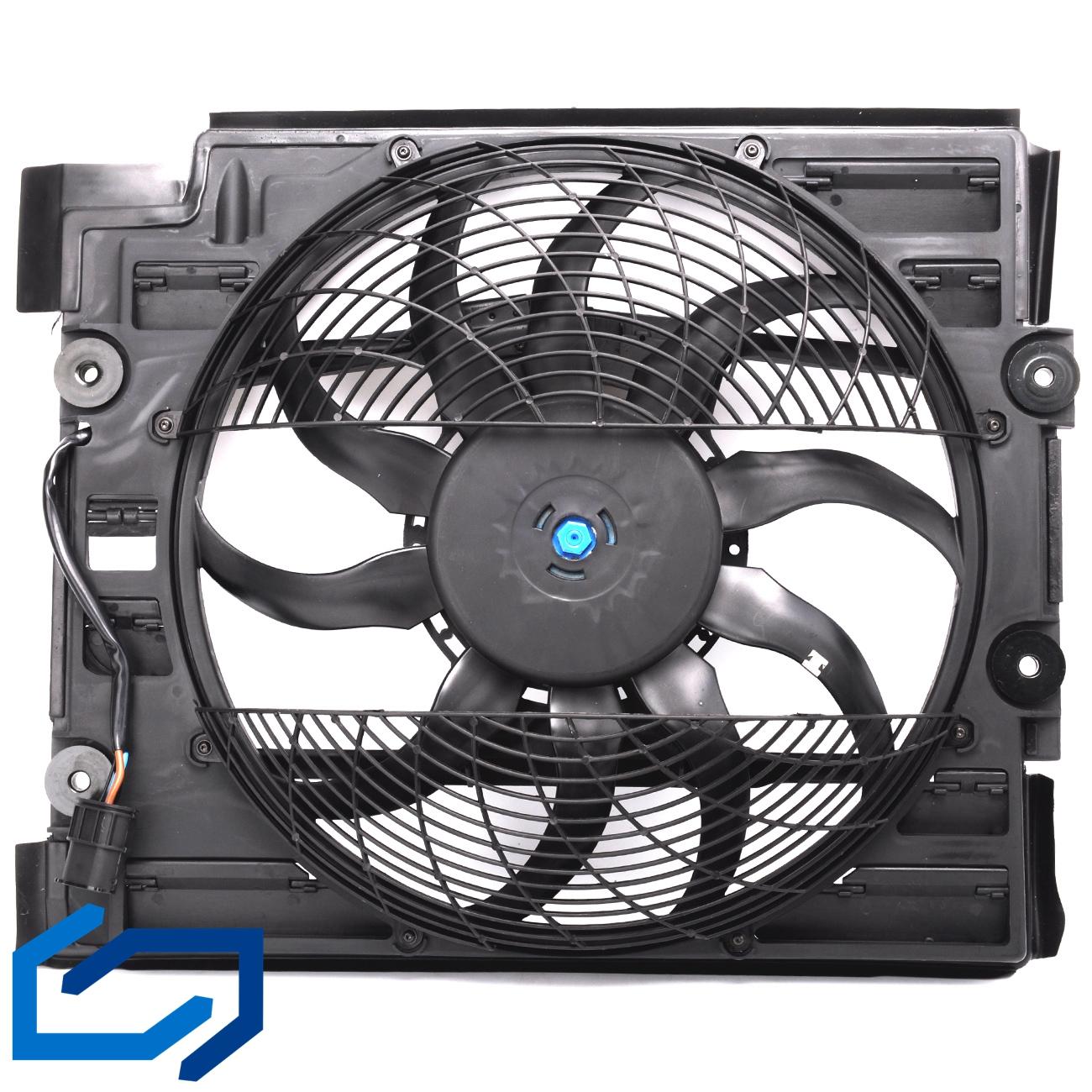 TOPAZ 64546921395 Druckl/üfter L/üfter Klimakondensator 64546921395 f/ür E39