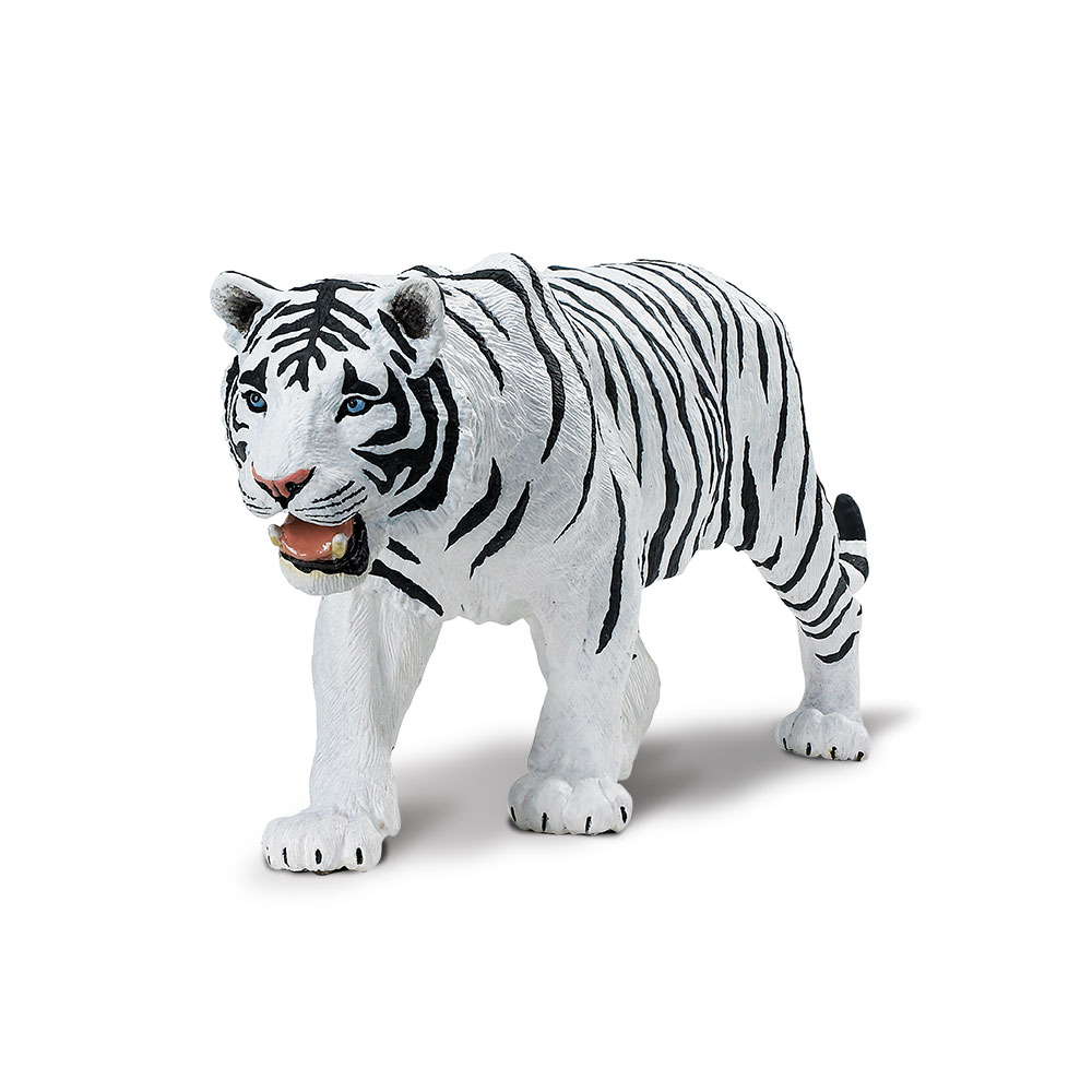 Wildlife Wonders White Siberian Tiger  Safari Ltd Animal Educational Toy Figure 3