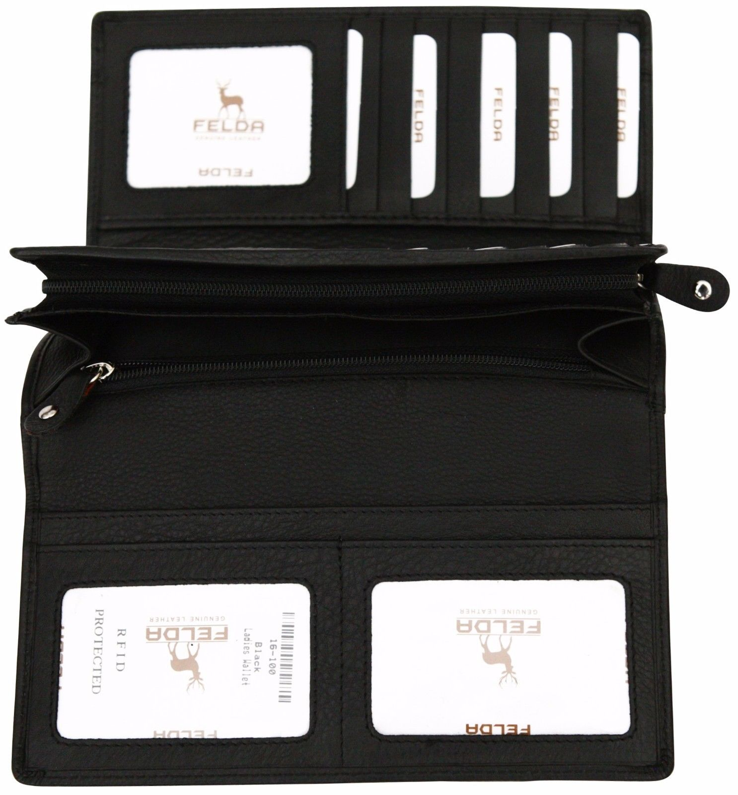 Felda-RFID-Ladies-Leather-Soft-Wallet-Large-Capacity-Purse-Womens-Multi-24-Card miniatuur 15