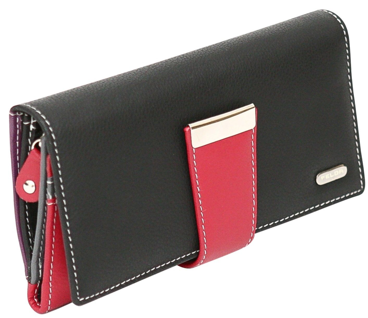 Felda-RFID-Ladies-Leather-Soft-Wallet-Large-Capacity-Purse-Womens-Multi-24-Card miniatuur 22