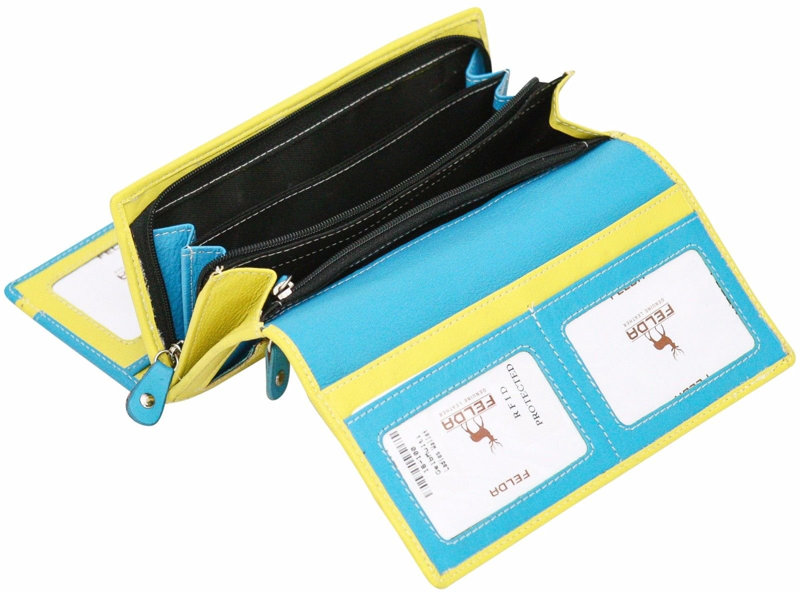 Felda-RFID-Ladies-Leather-Soft-Wallet-Large-Capacity-Purse-Womens-Multi-24-Card miniatuur 27