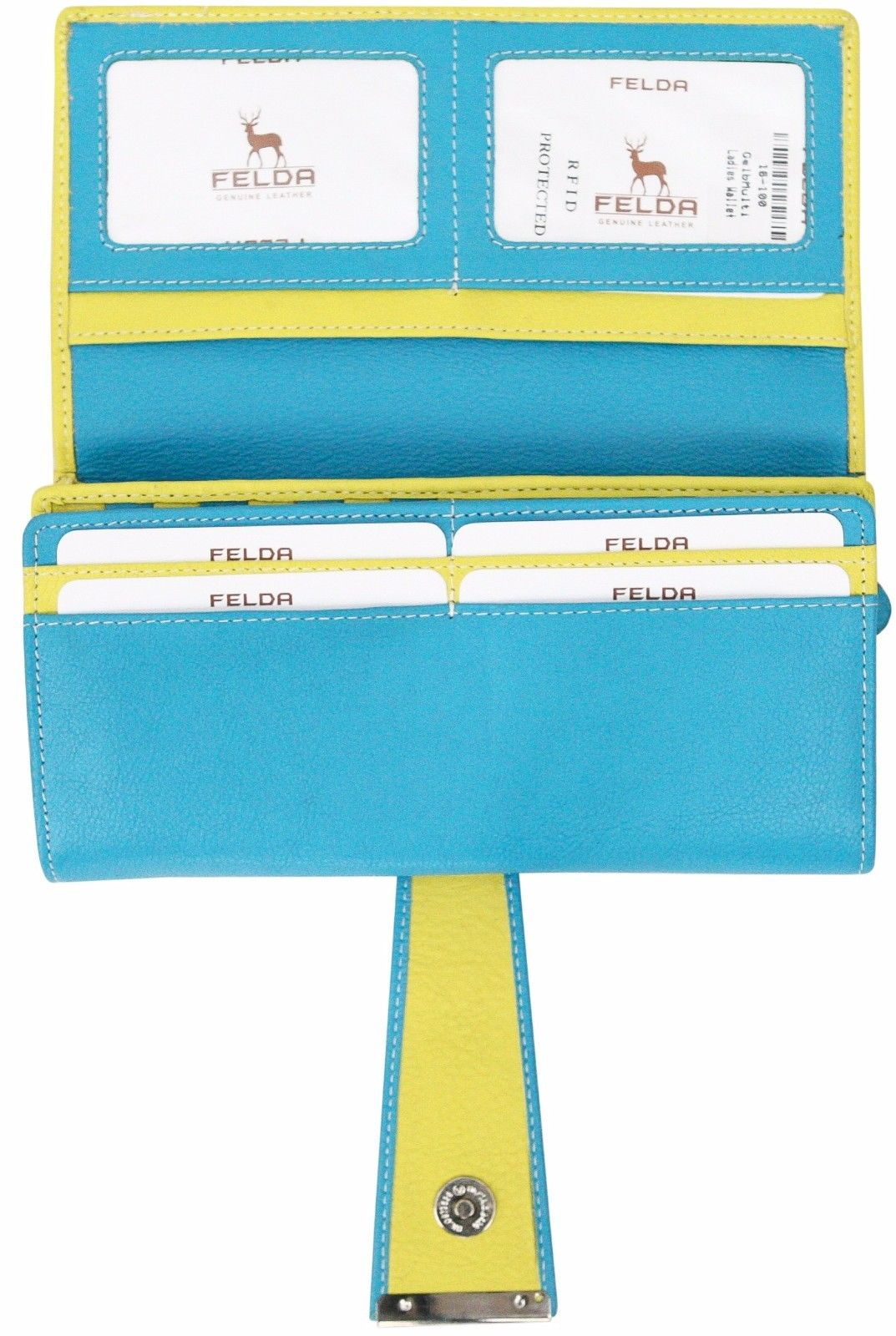 Felda-RFID-Ladies-Leather-Soft-Wallet-Large-Capacity-Purse-Womens-Multi-24-Card miniatuur 28