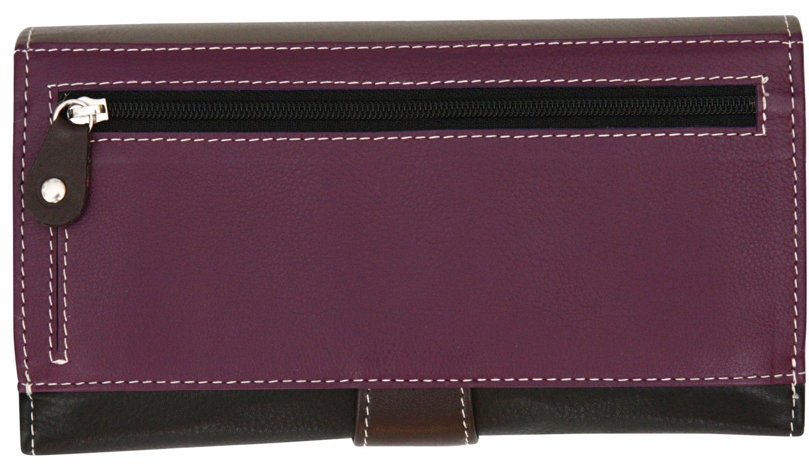 Felda-RFID-Ladies-Leather-Soft-Wallet-Large-Capacity-Purse-Womens-Multi-24-Card miniatuur 38