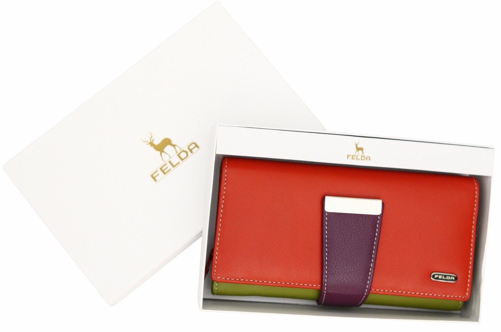 Felda-RFID-Ladies-Leather-Soft-Wallet-Large-Capacity-Purse-Womens-Multi-24-Card miniatuur 41