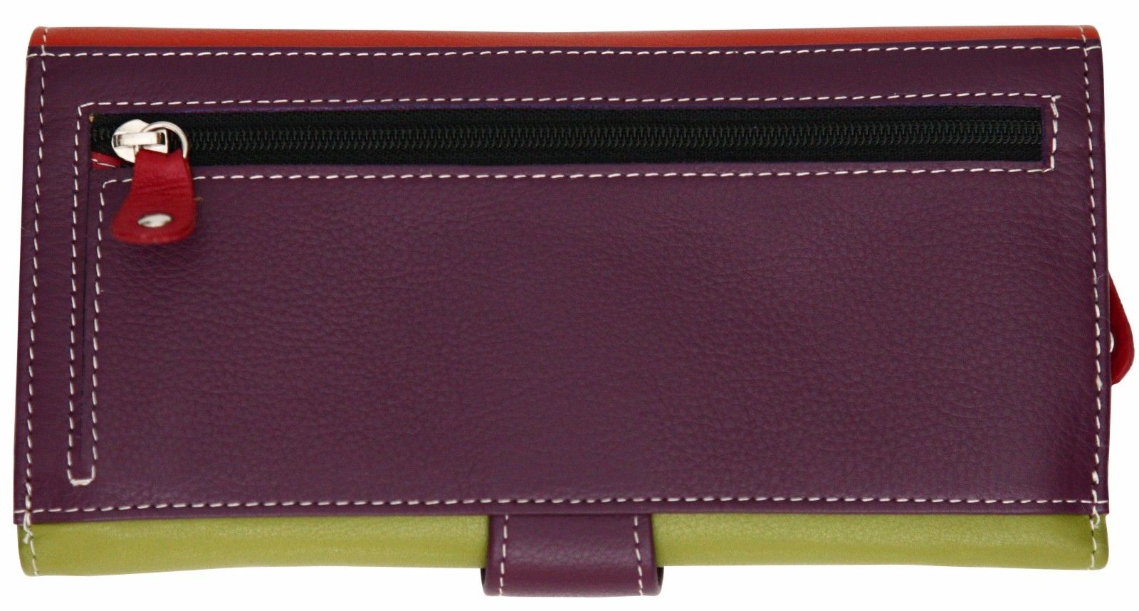 Felda-RFID-Ladies-Leather-Soft-Wallet-Large-Capacity-Purse-Womens-Multi-24-Card miniatuur 46