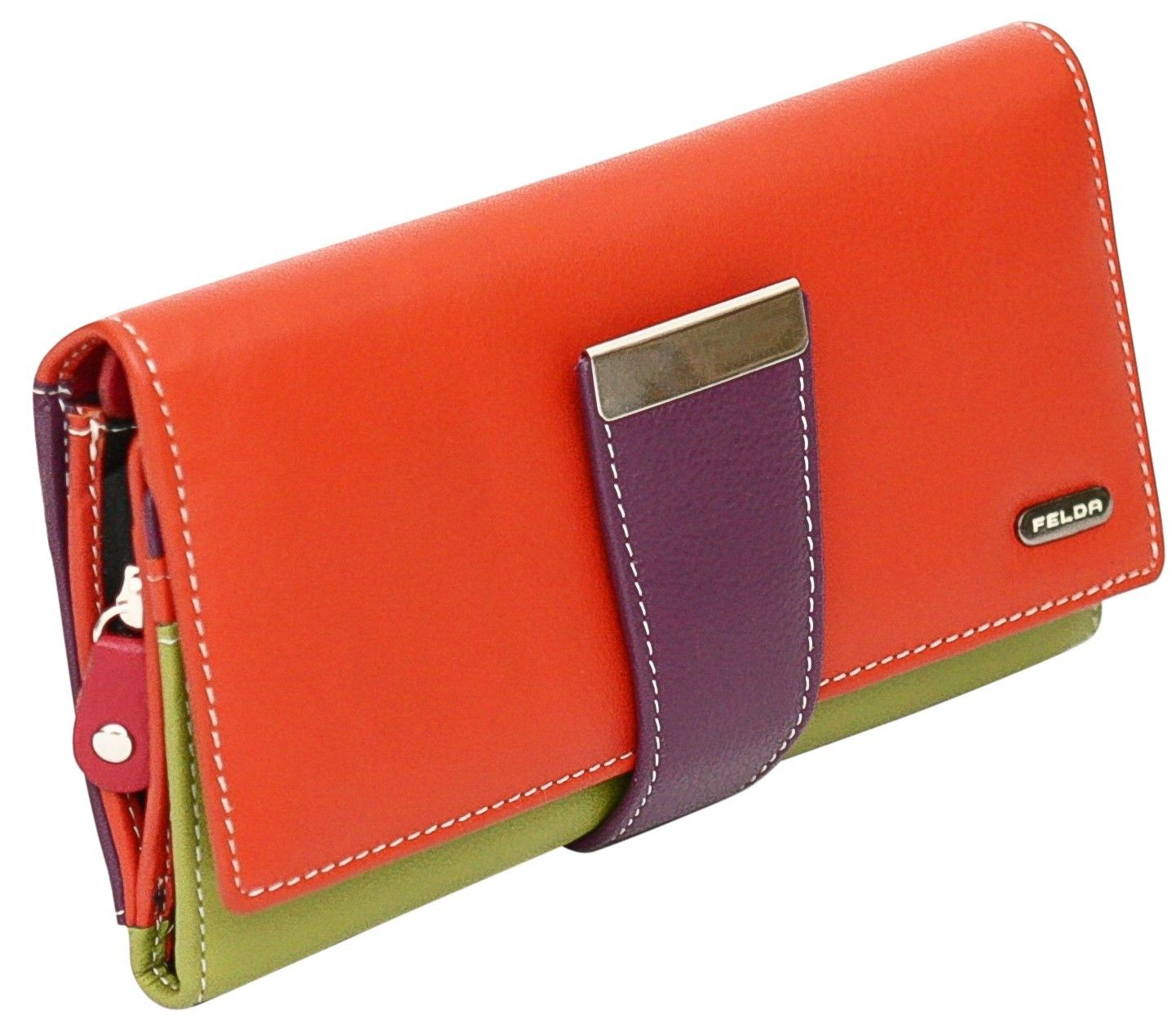 Felda-RFID-Ladies-Leather-Soft-Wallet-Large-Capacity-Purse-Womens-Multi-24-Card miniatuur 43