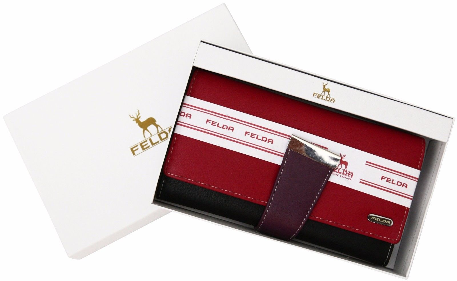 Felda-RFID-Ladies-Leather-Soft-Wallet-Large-Capacity-Purse-Womens-Multi-24-Card miniatuur 54