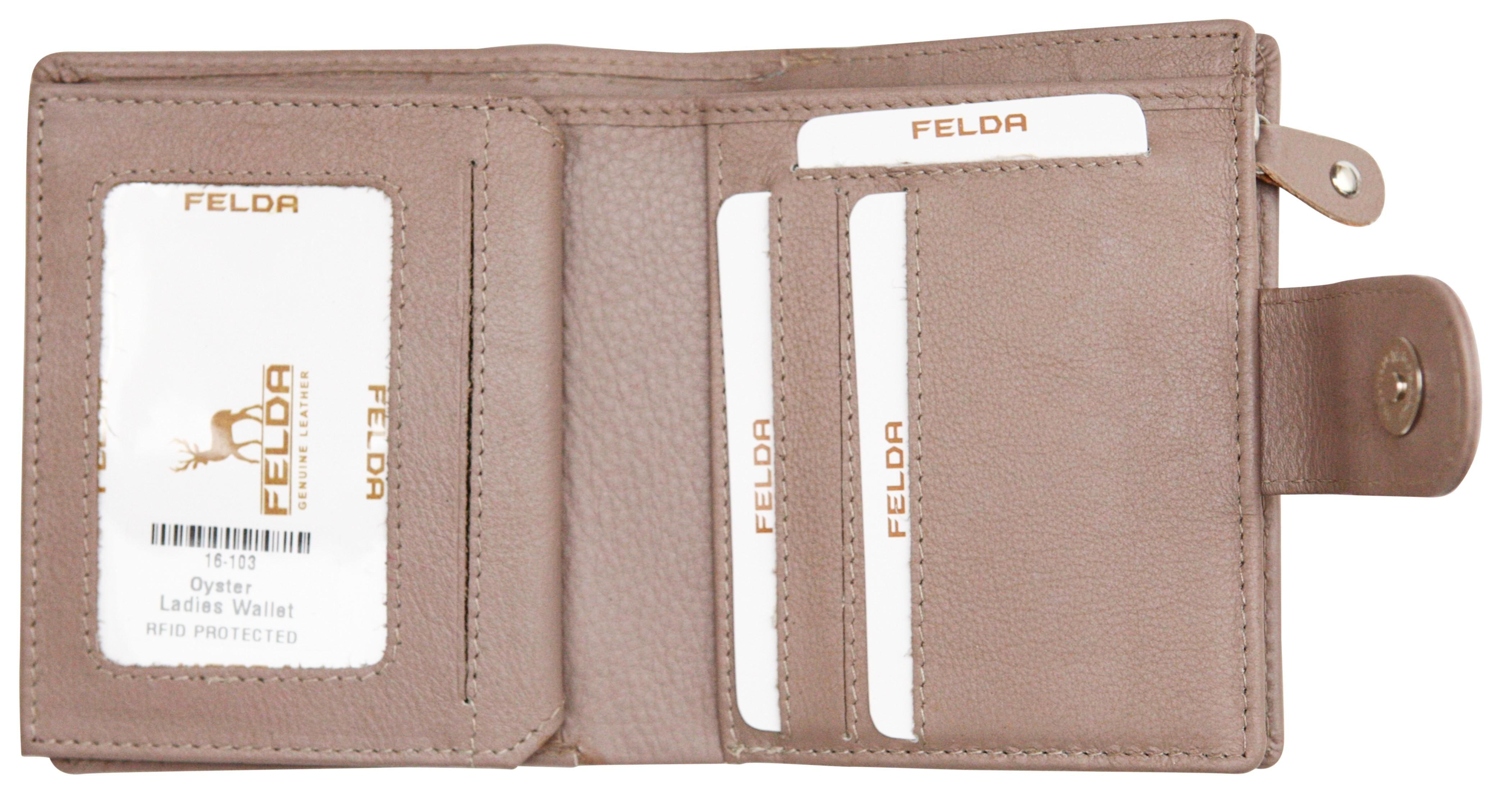 Felda-RFID-onorevoli-MEDAGLIA-amp-Card-Purse-Wallet-Genuine-Leather-Multi-SOFT-BOX-REGALO miniatura 77