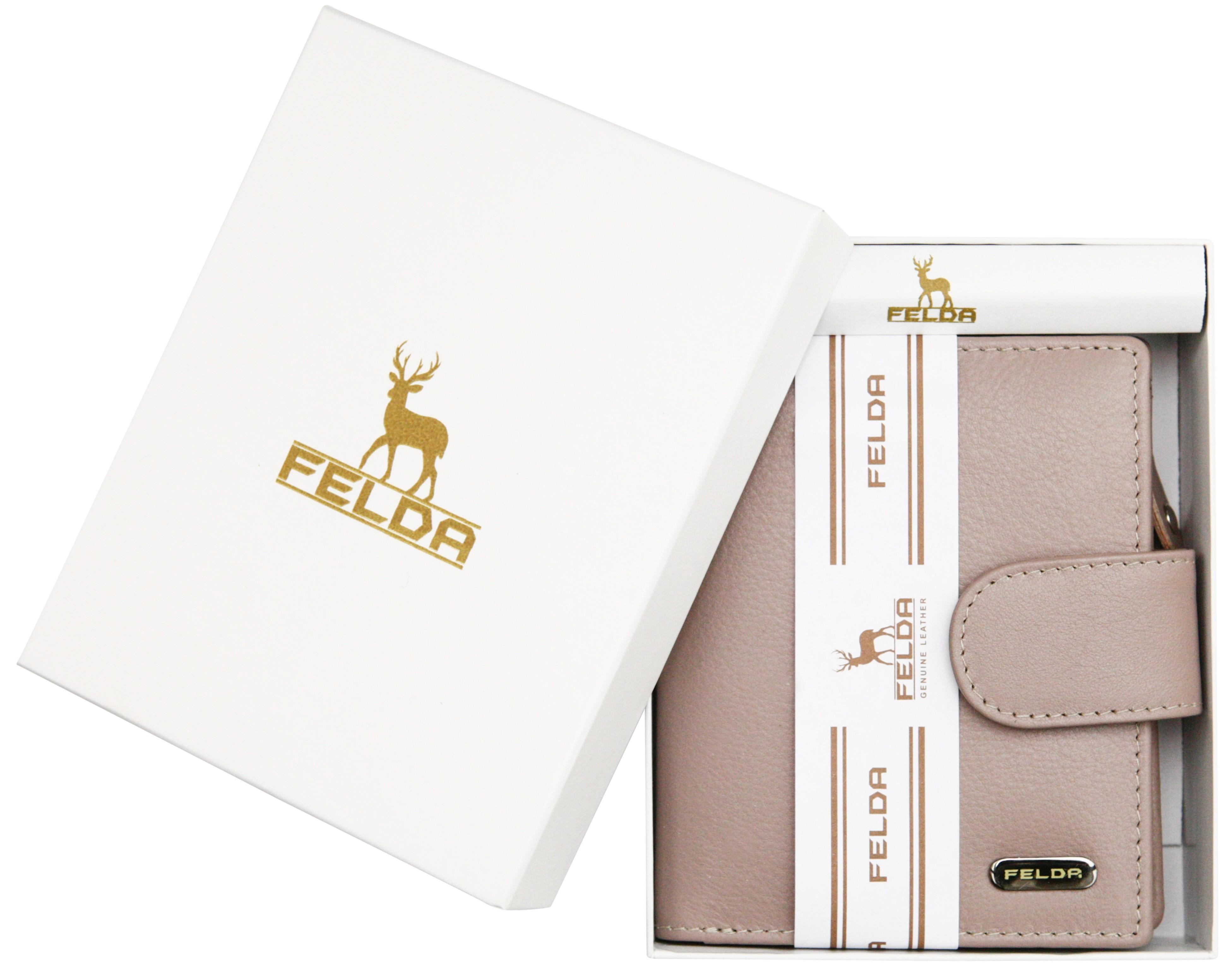 Felda-RFID-onorevoli-MEDAGLIA-amp-Card-Purse-Wallet-Genuine-Leather-Multi-SOFT-BOX-REGALO miniatura 75