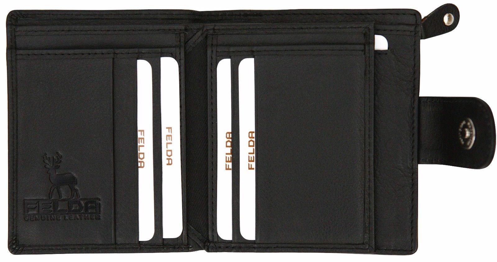 Felda-RFID-onorevoli-MEDAGLIA-amp-Card-Purse-Wallet-Genuine-Leather-Multi-SOFT-BOX-REGALO miniatura 13