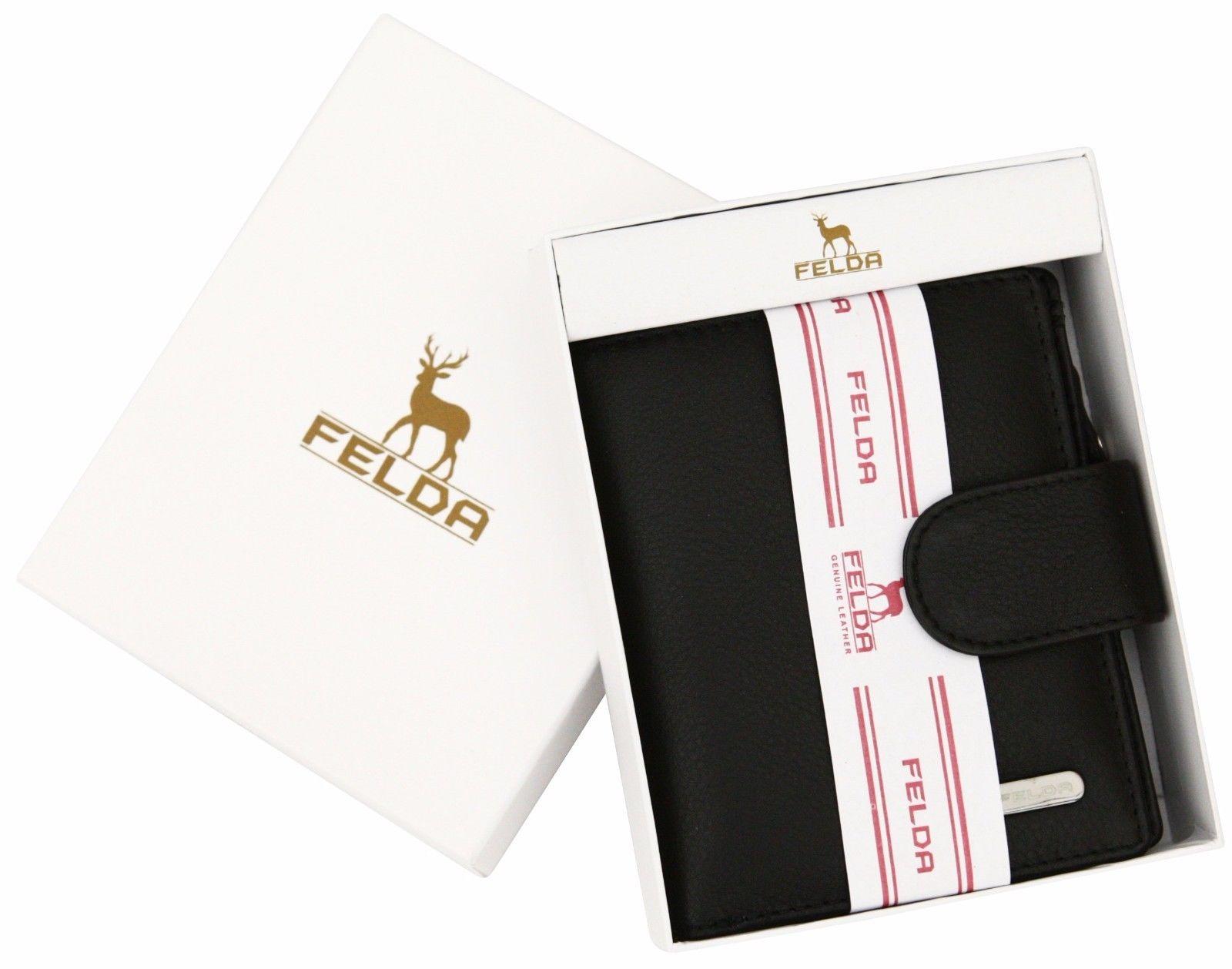Felda-RFID-onorevoli-MEDAGLIA-amp-Card-Purse-Wallet-Genuine-Leather-Multi-SOFT-BOX-REGALO miniatura 10