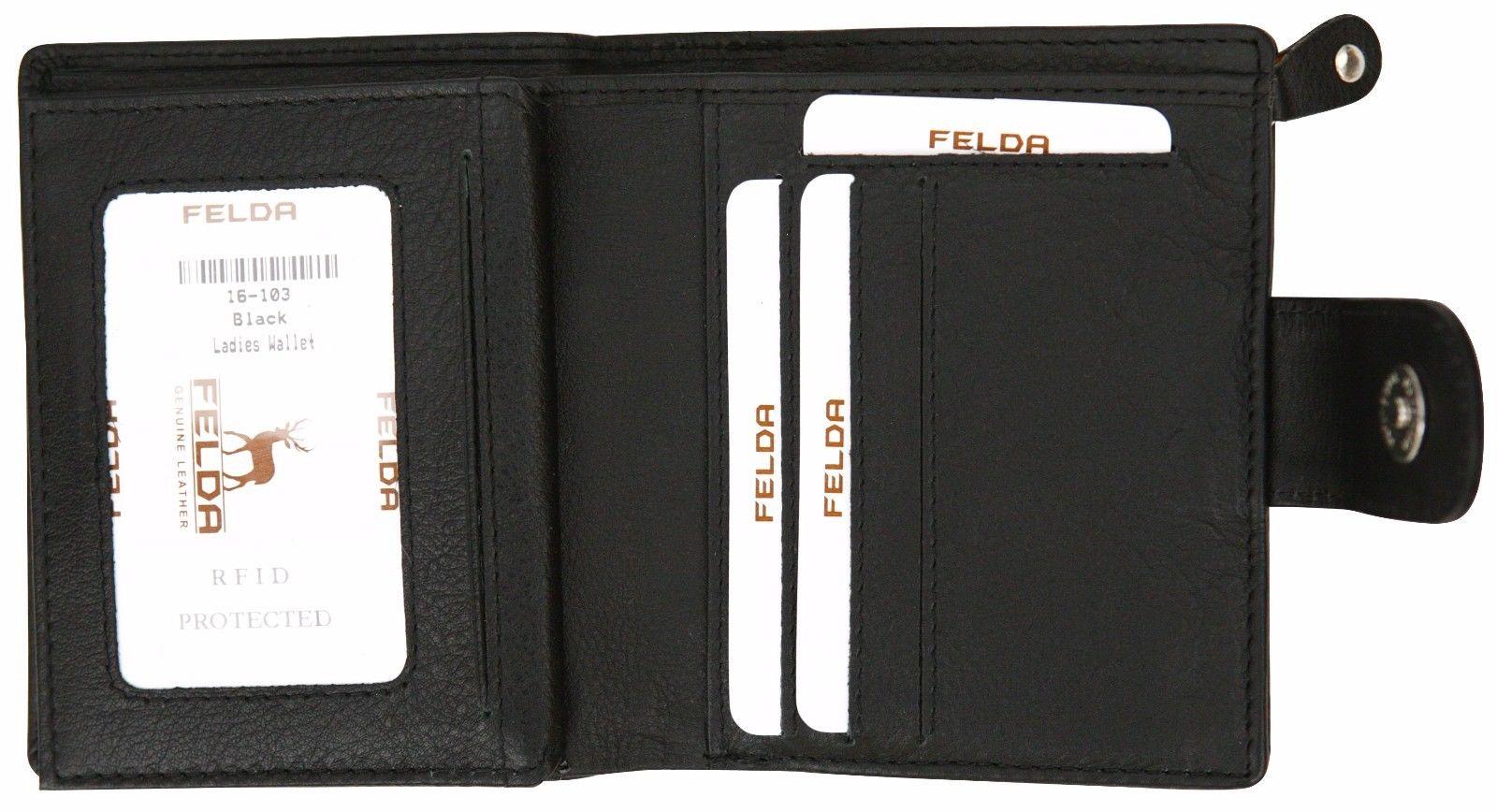 Felda-RFID-onorevoli-MEDAGLIA-amp-Card-Purse-Wallet-Genuine-Leather-Multi-SOFT-BOX-REGALO miniatura 14